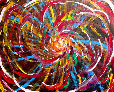 Painting - Spiral No. 7 by Rick Carbonell