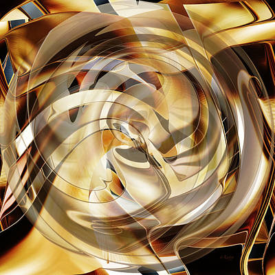 Digital Art - Spiral Of Life by rd Erickson