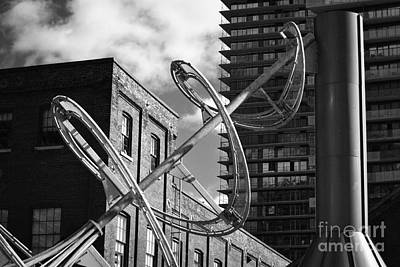 Photograph - Spiral Sculpture Distillery District by Nadalyn Larsen
