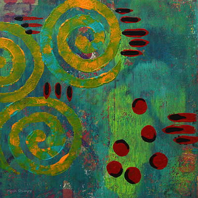 Abstract Movement Painting - Spiral Series - Adamant by Moon Stumpp