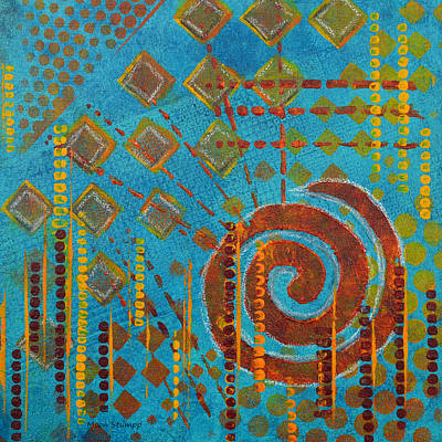Spiral Series - Amalgam Art Print by Moon Stumpp