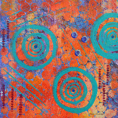 Abstract Movement Painting - Spiral Series - Continual by Moon Stumpp