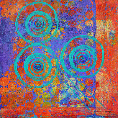 Abstract Movement Mixed Media - Spiral Series - Inroads by Moon Stumpp