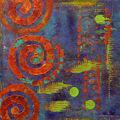 Lime Painting - Spiral Series - Mirth by Moon Stumpp
