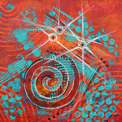 Abstract Movement Mixed Media - Spiral Series - Missive by Moon Stumpp