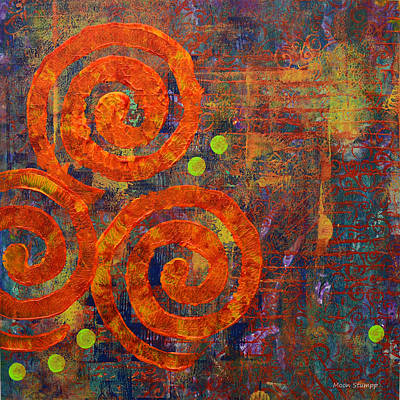 Movement Mixed Media - Spiral Series - Railing by Moon Stumpp