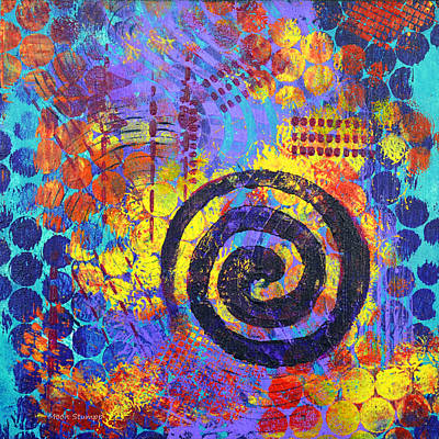 Abstract Movement Painting - Spiral Series - Voice by Moon Stumpp