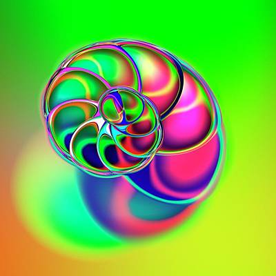 Psychedelic Photograph - Spiral Shape by Mehau Kulyk