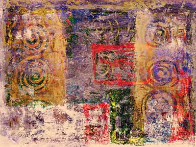 Spiral Spirits Texture Art Print