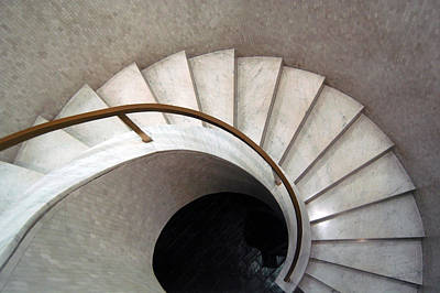 Photograph - Spiral Stair - Denys Lasdun by Peter Cassidy