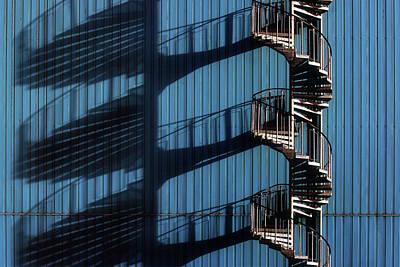 Wall Art - Photograph - Spiral Staircase And Shadows by Hans-wolfgang Hawerkamp