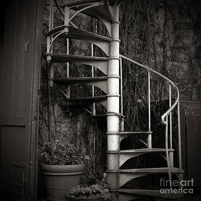 Spiral Staircase Print by Charmian Vistaunet