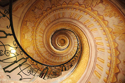 Spiral Staircase Art Print by Chevy Fleet