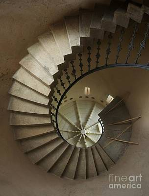 Spiral Staircase In A Tower Art Print by Jaroslaw Blaminsky