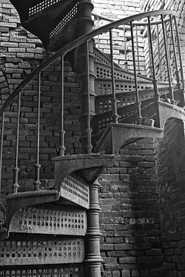 Spiral Staircase In B And W Art Print