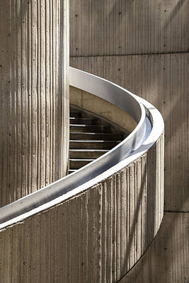 Spiral Staircase In Renaissance Center In Detroit  Art Print