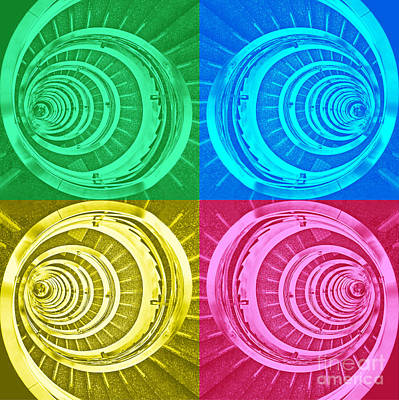 Photograph - Spiral Staircase - Pop Art Composition by Carlos Alkmin