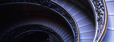 Vatican Photograph - Spiral Staircase, Vatican Museum, Rome by Panoramic Images