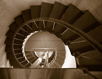Photograph - Spiral Stairs At Point Arena Lighthouse by Daniel Woodrum