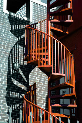 Spiral Staircase Photograph - Spiral Stairs - Color by Darryl Dalton