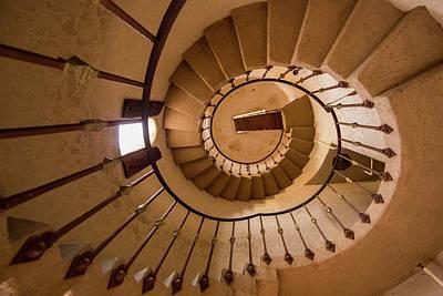 Spiral Photograph - Spiral Stairway In Scotty's Castle by Chuck Haney