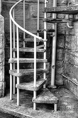 Spiral Steps - Old Sandstone Church Art Print by Kaye Menner