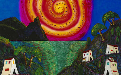 Painting - Spiral Sun by Patrick OLeary