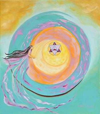Spiral Toward The Light Art Print by Joyce Small