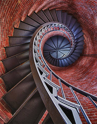 Staircase Photograph - Spiraling by Darylann Leonard Photography