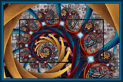 Digital Art - Spiraling by Kim Redd