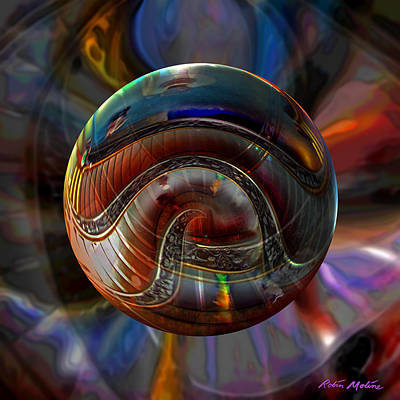 Round Digital Art - Spiraling The Vatican Staircase by Robin Moline
