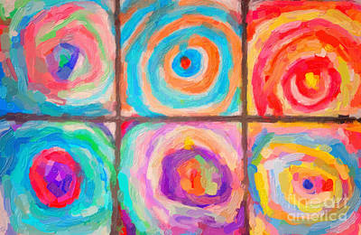 Backdrop Painting - Spirals by Celestial Images