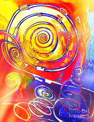 Painting - Spirals by Nancy Wait