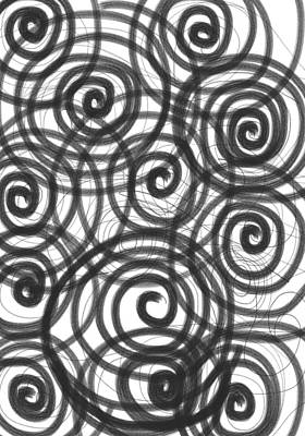 Spirals Of Love Art Print by Daina White