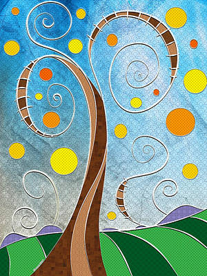 Spiralscape Art Print by Shawna Rowe
