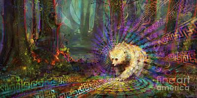 Kermode Painting - Spirit Bear by Simon  Haiduk
