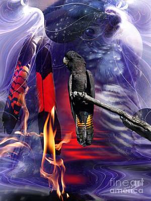 Cockatoo Digital Art - Spirit Bird by Wendy Slee