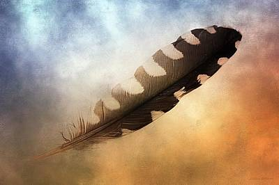 Spirit Feather Art Print by Melissa Bittinger