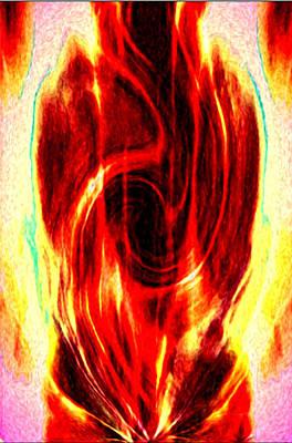 Spirtuality Digital Art - Spirit Fire Of Kudalini by Rebecca Phillips