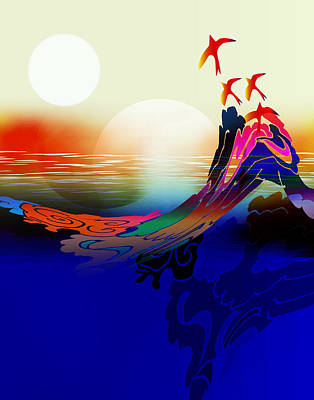 Spirit Flight Art Print by Bruce Manaka