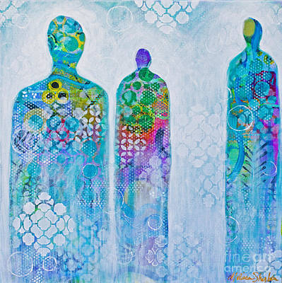 Mixed Media - Spirit Guides 05 by Melissa Sherbon