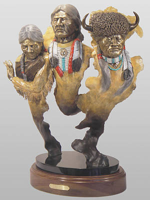 Sculpture - Spirit Guides by Hugh Blanding