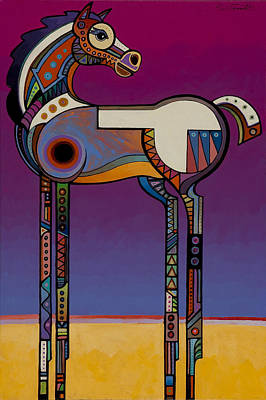 Edge Of The West Painting - Spirit Horse by Bob Coonts