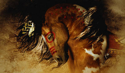 Native American Horse Digital Art - Spirit Horse by Shanina Conway
