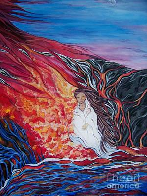 Spiritual Warrior Painting - The Presence Of God by Cheryl Anne Kennedy