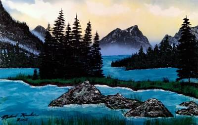 Art Print featuring the painting Spirit Island by Michael Rucker