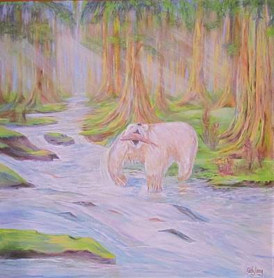 Painting - Spirit Kermode Bear by Cathy Long