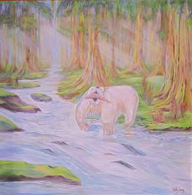 Painting - Spirit Kermode Bear by Cathy Long