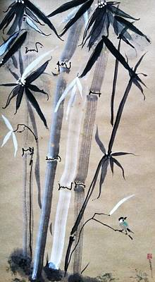 Painting - Spirit Like Bamboo by Casey Shannon
