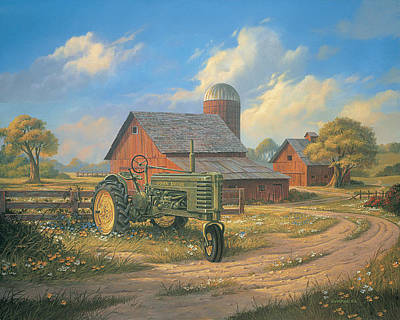 Tractor Painting - Spirit Of America by Michael Humphries